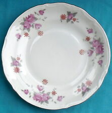 "(4) Chodziez Poland BOUQUET #54185 Salad/ Desert Plates, 7"", Platinum Trim, Rose"