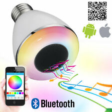 E27 Smart LED RGB Bulb Bluetooth Speaker 9W Wireless Music Player Mood Light UK