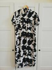 F&F Black and White Print Dress (Size 10)