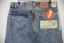 VINTAGE RARE Mens LEVIS 501 Jeans STRAIGHT Buttons WHITE WASHED W32 L36 USA P37