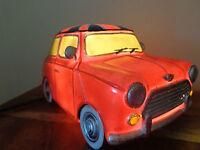 British Retro/Vintage Style Red Union Jack Mini Car Table LED  Light/Home/Lounge
