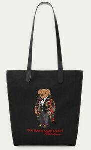Ralph Lauren Toggle Espadrille Polo Bear Leather Tote Shoulder Messenger Bag