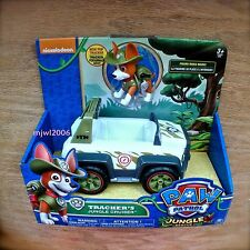 Nickelodeon PAW PATROL TRACKER'S JUNGLE CRUISER Poseable Pup Ride 3+ Jeep Rover