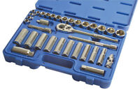 TOOL SALE! New Pro Quality Socket Extension Ratchet Tool Set 3/8 Drive 34pce