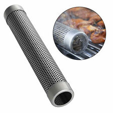 12 inch Stainless Steel Round Pellet Tube Smoker Pipe for Outdoor Cooking & BBQ