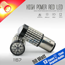 2X 1157 50W High Power Chip LED Projector Red Brake Tail Lights Bulbs