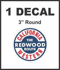 California Western The Redwood Route Railroad Rail Road Lionel Diorama Decal