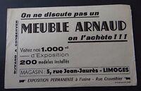Buvard Meuble ARNAUD 5 rue Jean-Jaurès Limoges Blotter Löscher
