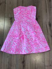 Lilly Pulitzer Blossom Dress Bunny Hop Pink Tropics Size 0
