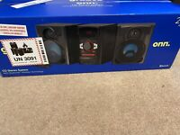 Onn. Groove CD Stereo System 200W With Bluetooth Wireless Connection