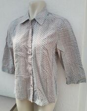 Monsoon Ladies Size 8 Grey Blue Dusky Pink Shirt Top Summer Holiday Fashion Wear