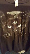 Never Shout Never Black Cat Tour t Shirt Large