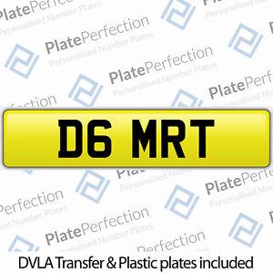 D6 MRT MT MARK MATT MICK MEL CHERISHED PRIVATE NUMBER PLATE DVLA REGISTRATION