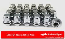 ACCIAIO Lungo Esteso Open Wheel Nuts Neo Cromato M12 x 1.5 Si Adatta Toyota Supra MR2