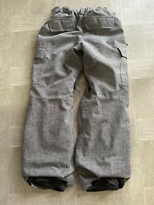 Burton DryRide Snowboard/Ski Room to Grow Pants Gray Boys Large 14/16