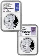 2017-S Silver Eagle 2-Coin Congratulations NGC PF70 FR Mercanti Jones SKU47455