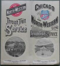 "FERROVIA. Nord America.""Chicago and North-Western"" 1893"