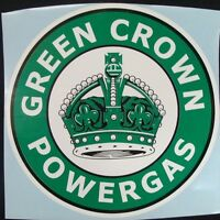 Green Crown Powergas Graphic Decal Gas & Oil / CROWN GASOLINE / GAS PUMP STICKER