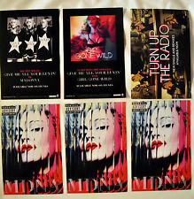 MADONNA promo postcards MDNA tour Girl Gone Wild, turn up the radio (rebel heart