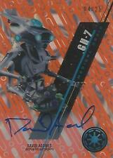 "Star Wars High Tek: Orange SW-56 David Accord ""GH-7"" Autograph Card #04/25"
