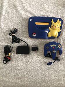Console Nitendo 64 Pikachu Bleu/Jaune avec manette et cables
