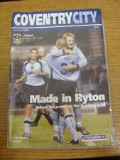 26/10/2002 Coventry City v Walsall  . Thanks for viewing this item, buy with con