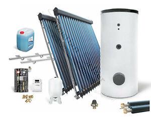 Solaranlage komplett Solarpaket Solarthermie Warmwasser m. Speicher 3,61-14,67m²