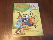 VINTAGE The Wizard of Oz Children's Book L. Frank Baum - Mary Cushing + LARGE HC