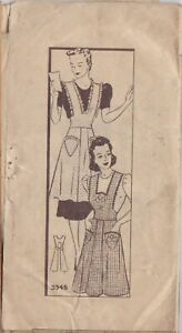 STEP BY STEP UNPRINTED PATTERN SIZE SM 3945 MISSES' APRONS