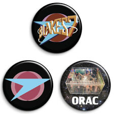 3 BLAKE'S 7, ORAC 25mm Badges. GREAT VALUE. FREE POST