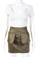 Mike Gonzalez Womens Cotton Mini Cargo Skirt Olive Green Size 6