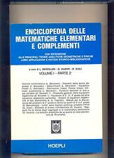 ENCICLOPEDIA DELLE MATEMATICHE ELEMENTARI vol. 1 _2 - 1979  - HOEPLI : .. OTTIMO