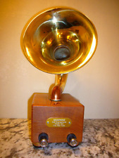 RETRO VINTAGE GRAMOPHONE BLUETOOTH SMARTPHONE SPEAKER ENSEMBLE 'SEUSPHONE'- NEW!
