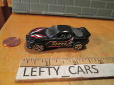 1995 MAZDA RX-7 TURBO SPEED BLACK CAR SCALE 1/64 - LOOSE! NO BOX!
