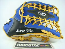 "JAPAN SSK Special Pro Order 13"" Outfield Baseball Glove Blue Black Gold RHT RARE"