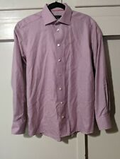 Eton of Sweden Contemporary Fit Pink Purple Houndstooth Dress Shirt 15 3/4 - 40