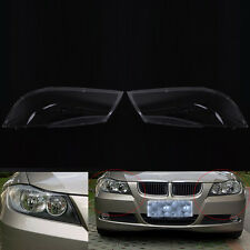 Car headlight cover headlamp lens cover Pair for BMW E90 2004-2007 06 New H00A