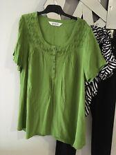 VIRTU VIRTUELLE TS TAKING SHAPE Apple Green Short Sleeve Tunic Top BNWOT 14