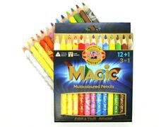 Koh-I-Noor (3408) Magic Multicoloured Jumbo Pencils Set of 12+ Blender Pencil