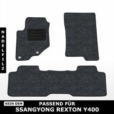 Fußmatten Passend für SsangYong Rexton Y400 (ab 2017) - Anthrazit Nadelfilz 3tlg