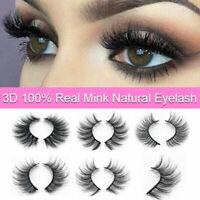 1 Pair 3D Mink False Eyelashes Wispy Cross Long Thick Soft Fake Eye Lashes SY