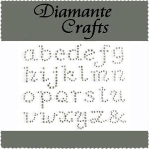 Diamante Alphabet Letters Clear Rhinestone Vajazzle Body Art Gems lc