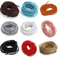 5 Yards 3mm Leather Braid Rope Cord For Necklace Bracelet Jewelry Findings