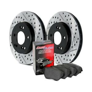 Front Stoptech 977.34007F Sport Axle Pack Slotted