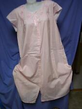 """""""SECRET TREASURES """" PINK/LACE/EMBROIDERY COTTON NIGHTGOWN/ROBE/DRESS sz  L"""