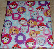 PAW PATROL PINK SNOWFLAKES USA CHRISTMAS Wrapping PAPER 20 SQ FT FOLDED