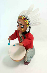 Vintage INDIAN JOE Battery Operated Drummer ~ ALPS 1950's/1960's