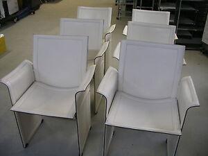 Matteo Grassi Korium Lederstuhl weiss, mehrfach vorhanden, MwSt