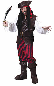 High Seas Male Buccaneer Adult Mens Costume Pirate Movie Theme Party Halloween