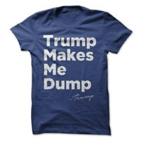 Donald Trump President T-Shirt CNN Make America Great Again Makes Me Dump